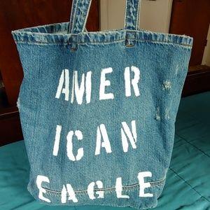 American Eagle | Blue denim tote bag